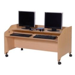 double wide kid computer desk